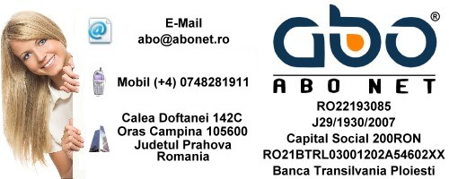 Informatii contact ABO NET Pagina domenii inregistrare .info